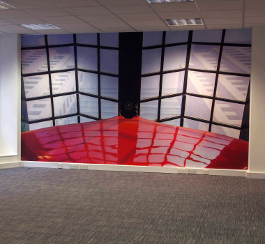 Switchscene | Commercial Wallpaper | Red Cover and Folding Doors