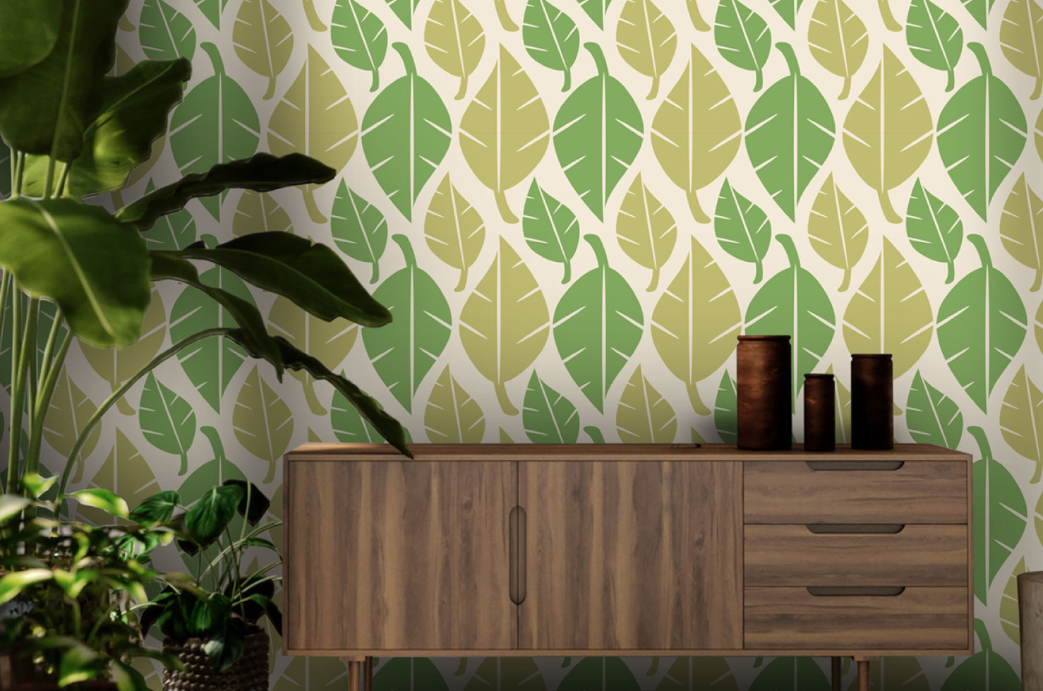 Switchscene | Commercial Wallpaper | Leaf design
