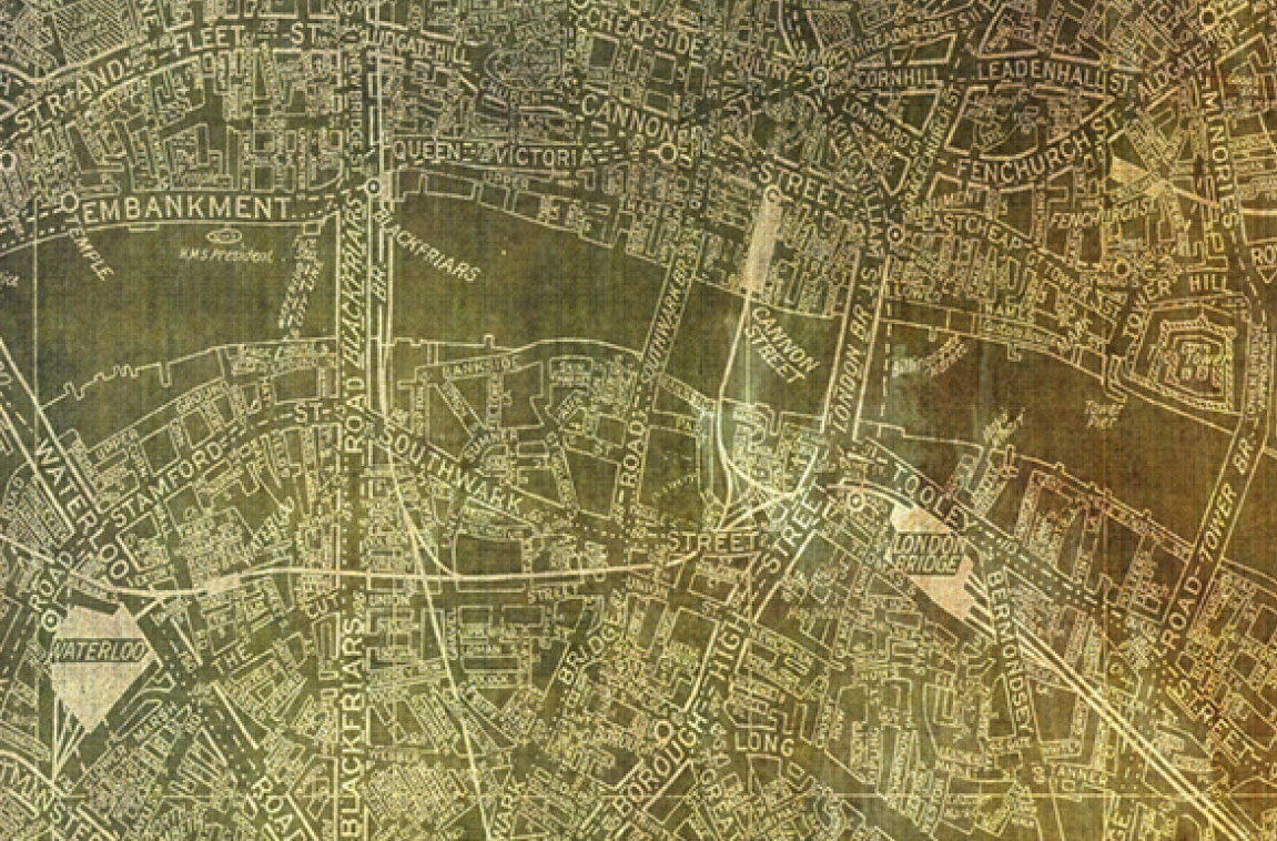 Sepia London map