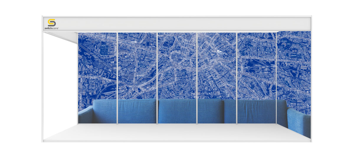 Switchscene | Commercial Wallpaper | Blue Map