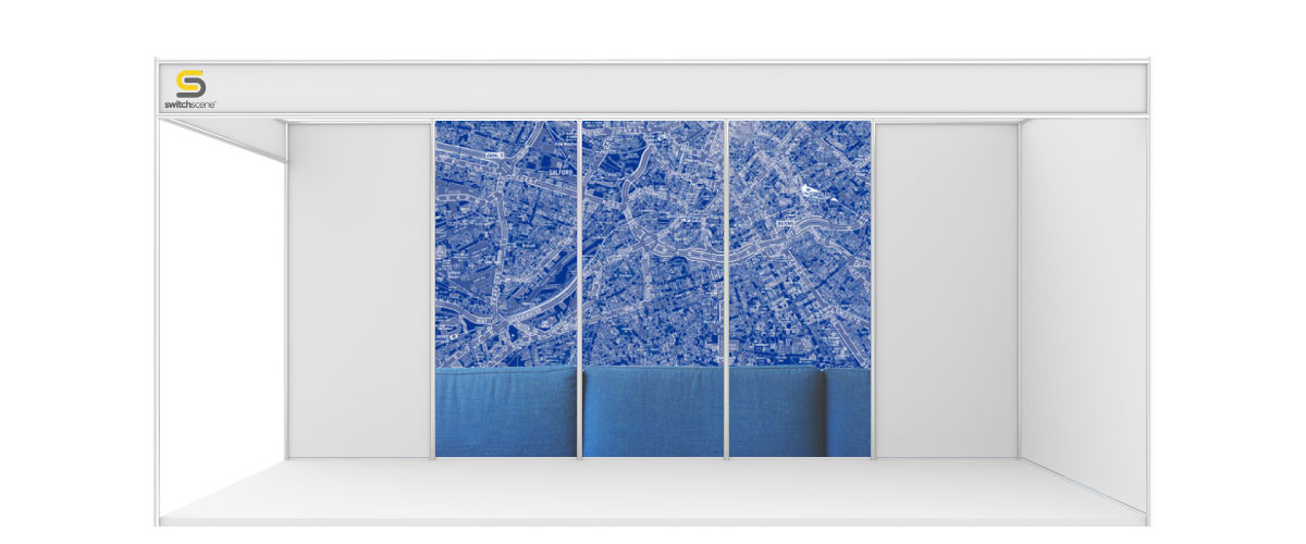 Switchscene | Commercial Wallpaper | Blue Map Section